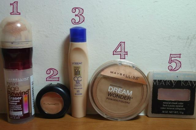 Produtos passo a passo para preparar a pele